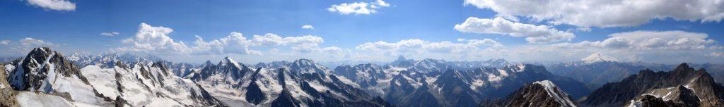 Кавказский хребет панорама